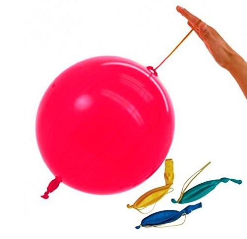 Unique Party- Paquete de 4 globos Punch Ball de látex (5144)