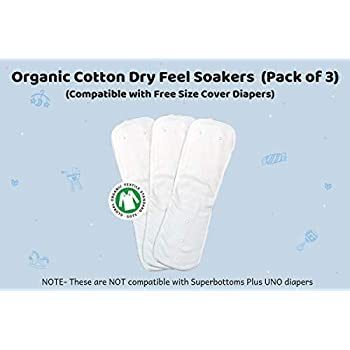 Superbottoms Organic Cotton Dry-Feel Soakers (Pack of 3)
