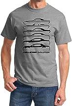 1970-2018 Dodge Challenger Evolution Classic Outline Design Tshirt XL Grey