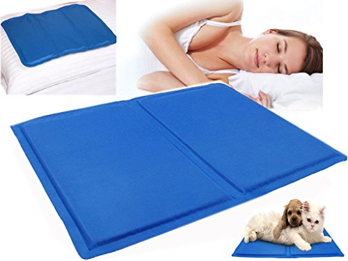 SONIC New Cold Cooling Pillow Chilled Laptop Gel mat Pad Bed Cool Sleeping Aid