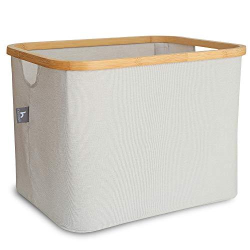 HENNEZ Wäschekorb faltbar 40L, Ideal als Aufbewahrungskorb, Aufbewahrungsbox Stoff, Korb Aufbewahrung, faltbare Aufbewahrungsboxen für Kallax, Körbe für Regal, Körbe Aufbewahrung für IKEA Kallax