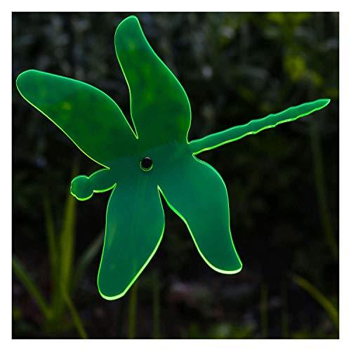 Bütic GmbH Plexiglas® Sonnenfänger Libelle 14cm neon transparent fluoreszierend, Farbe:neongrün