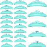 20 Almohadillas de Silicona de Permanente de Rizador de Pestañas Almohadillas de Silicona de Permanente de Pestañas Reutilizables Herramienta Varillas Levantar Pestañas 5 Tamaños (Verde)
