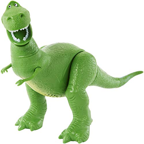 Disney Pixar Toy Story 4 True Talkers Rex Figure, 7.8 in / 19.81 cm-Tall Posable, Talking Character Figure with Authentic Movie-Inspired Look and 15+ Phrases, Gift for Kids 3 Years and Older​