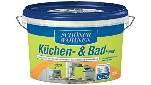 SCHÖNER WOHNEN FARBE Küchen- & Badfarbe, fresh 2 l, fresh