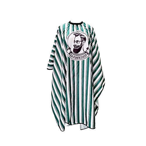 Adultes Haircut robe Stripes Barber Cape Antistatique coupe de cheveux tablier Coiffure Cap pour Studio Green Home
