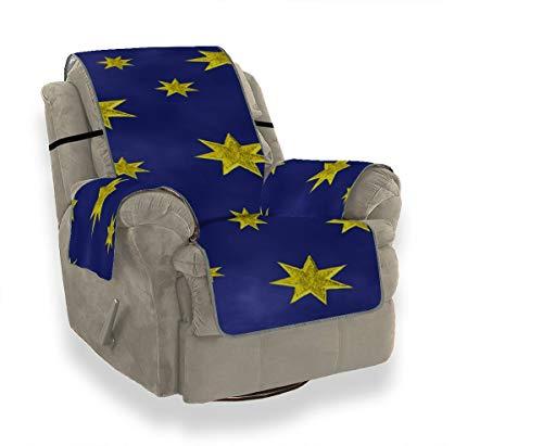 Star Sky Starry Sky Space Night Universe Sofá azul Cojines de repuesto Fundas antideslizantes para sillas con orejeras Sofá Cubierta móvil Protector de muebles para mascotas, niños, gatos, sofá