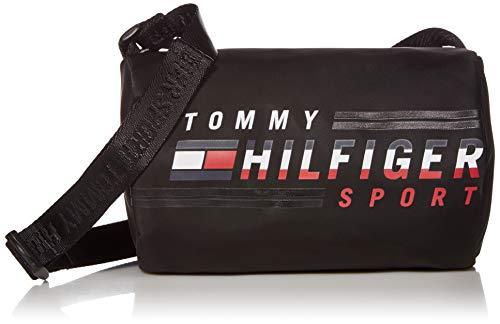 Tommy Hilfiger Bolsa esportiva transversal masculina, Bolsa esportiva masculina Tommy Hilfiger a tiracolo, Tommy Black, One Size