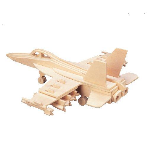 Etna Iława F-18 3D Holzbausatz Flugzeug Flieger Holz Steckpuzzle Holzpuzzle Kinder P104