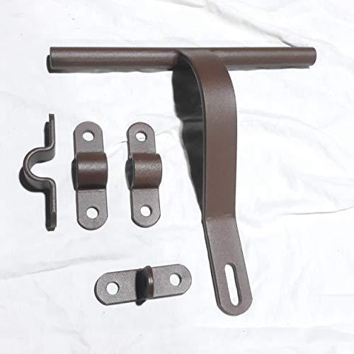 Cerrojo para puertas madera hierro, cerrojo fuerte forja hierro 27 cm. largo