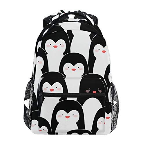 Penguins Backpacks Travel Laptop Daypack School Bags for Teens Men Women