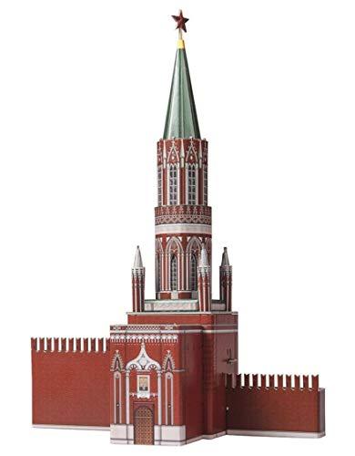 CLEVER PAPER- Puzzles 3D Torre de San Nicolás, Kremlin (14254)
