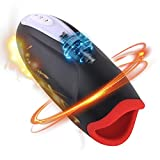 2021 New Electric Male Masturbator Heating 10 Speeds Vibarting Mens Stroker Toy Pussey Men Blow-Job 3D Real Masturbation Pocket Pussy Blow-Job Underwear Stroker for Man Viborater Flesh lightsleeve
