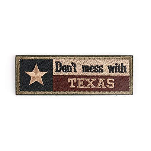 Topteng Hook strik vlekken, Do not Mess With Texas Tx-staatvlag VS-leger Moral Tactical Bos badge vlekken
