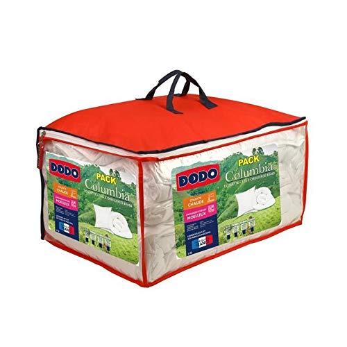 Dodo Pack Columbia - 1 Couette Chaude 240x260cm + 2 oreillers 60x60cm