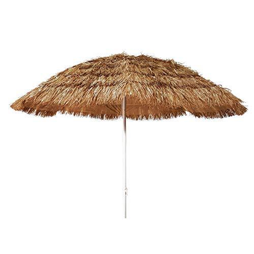 Paragon Stroh-Sonnenschirm für Strand Meer 200cm 8Streben