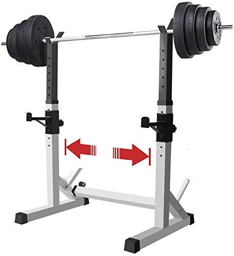 AMITD Einstellbare Squat Rack Multifunktions Robuste Bench Press-Geräte, Haushalts Barbell Stände, Stand Power Weight Bench Squat Ständer-Rack