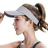 Cappello estivo sportivo donna uomo cappello da sole tennis visiera golf da baseball regolabile all'aperto copertura piatto cappello a tesa lunga protezione UV asciugatura rapida traspirante cappello