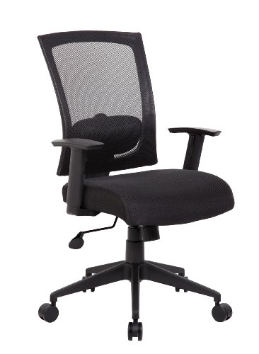 Boss Office Products Mesh Back Task Chair in Black