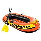 LIUXU Kayak Inflable, Barco Inflable Grueso de PVC, cojín de kajak Inflable, Bomba de Paleta de Aluminio, kajak Inflable para 2 Personas / 3 Personas