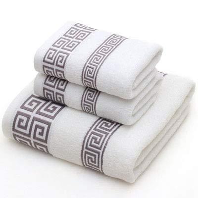 GUYUE Toallas de baño Conjunto de Toalla de algodón para Adultos 2 Cara pequeña Toalla 1 baño Toalla de Color sólido Azul Azul baño Terry toalth Toallas Deportivas