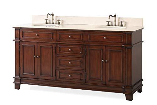 70' Sanford Double Sink Large Brown Bathroom Vanity CF-3048M-70