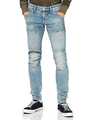 G-STAR RAW 5620 3D Zip Knee Skinny Jeans, Sun Faded Scanda C430-b836-Zapatillas, Color Azul, 36W / 36L para Hombre