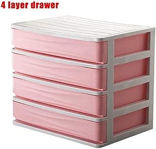 Martinimble Desktop Storage Box Cosmetic Makeup Organizer with Drawer Lipsticks Holder Plastic Sundry Storage Case