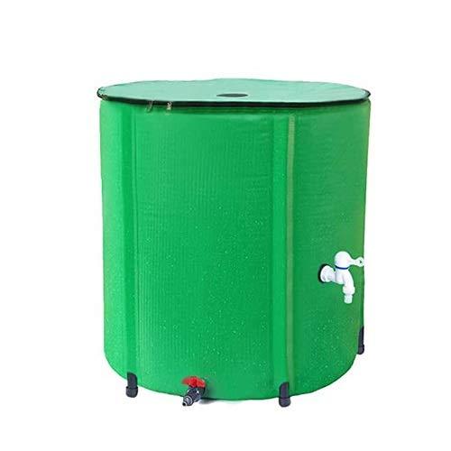 LSXIAO Flexible Tanque De Agua Plegable, Cubo Multiusos, Diseño De Cubierta De Malla Fácil De Almacenar Y Transportar con Tapa, Grifo para Patios, Terraza (Color : Green, Size : 225L/60x80cm)