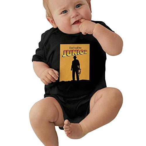 GAMSJIM Indiana Jones Baby Climbing Clothes Short Sleeved Comfortable Soft Cotton Black