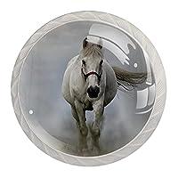 キャビネットはドアの机の引出しのためのノブを扱います白馬 クリスタルガラスは4個を扱います
