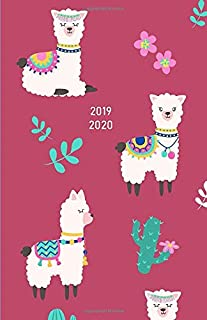 2019 2020: Pretty Girly Llamas in Purple - Planner / Diary / Agenda: July 2019 - December 2020 - only month pages layouts for important things to remember