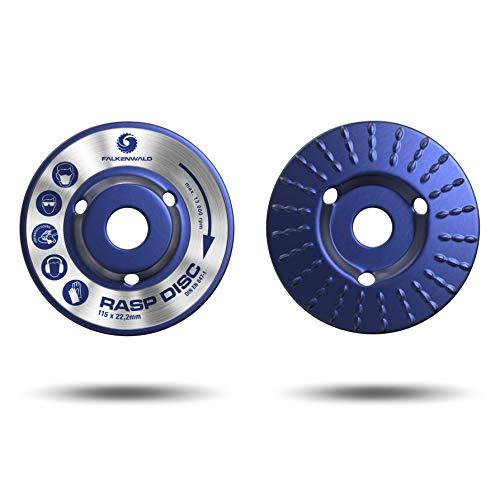FALKENWALD ® Raspelscheibe für Winkelschleifer Holz - Ø 115 mm x 22,2 mm Hochwertiges Sägeblatt für Winkelschleifer - Winkelschleifer Aufsatz für schnelles und grobes Abtragen
