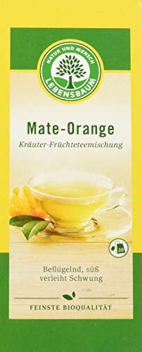 Lebensbaum Kräutertee Im Teebeutel - Mate-Orange (enthält Koffein), 40 g