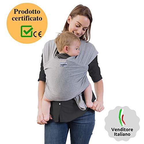 Fascia Porta Bambino 1st.Purchaser | Fascia Porta Bebè - Ergonomica - Marsupio Perfetto Per Neonati e Bebè fino a 15kg - Cotone Leggero e Traspirante