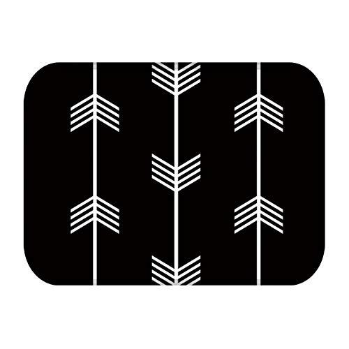 ZXCVWY Deurmat Deurmat Keuken Tapijt Rubber Vloermatten Zwart Wit Geometrische Klassieke Stijl Entree Home Decor Tapijt Anti-Slip