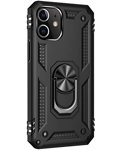Hülle für iPhone 12 mini 5G 5.4'' Case Kompatibel mit iPhone 12 mini 5.4'' Hülle Stoßfest 360 Grad Ringhalter Magnetisch Ständer Handyhülle Silikon Bumper Outdoors Case für iPhone 12 mini Schutzhülle