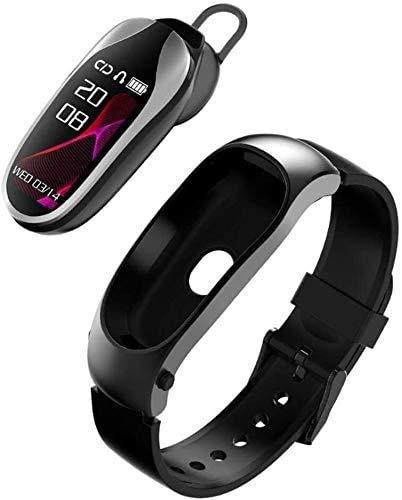 Gymqian Fitness Tracker Fitness Tracker Ip68 Waterproof Smart Sports Bracelet with Bluetooth Headset-Heart Rate Monitor Sleep Step Counter Intelligent Activity Tracker Pedometer Wat