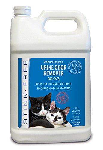 Stink Free Instantly Urine Odor Remover & Eliminator for Cat Urine, Oxidizer Based Urine Cleaner for Carpets, Rugs, Mattress, etc. 128 Oz (1 Gallon)