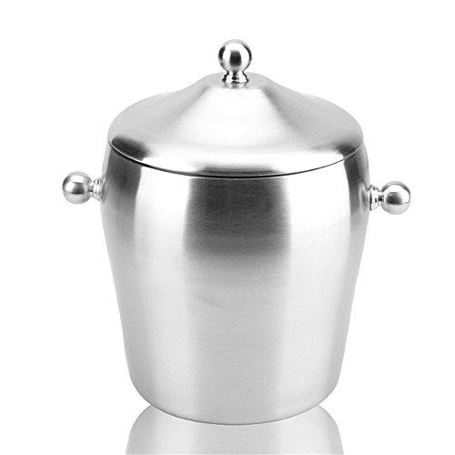 FTC Ice Bucket Isolamento e Vino del Secchiello del Ghiaccio in Acciaio Inox a Doppio Strato a Forma di Tamburo