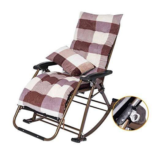 IJNBHU Silla de Trabajo de Gravedad Cero Brethable,Cama Plegable de Camping Reclinable de salón Plegable,Tumbona reclinable en un sillón de Patio,para Exteriores,PiscinaB