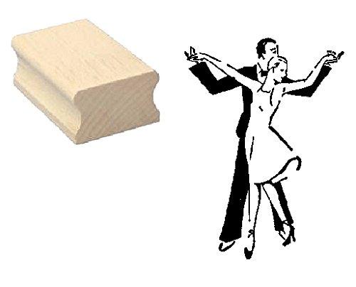 Stempel Holzstempel Motivstempel « TÄNZER » Scrapbooking - Embossing Tanz tanzen Gesellschaftstanz Tänze Tanzschule