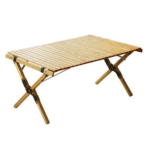 アウトプットライフ ウッド ロールトップテーブル OUTPUT LIFE WOOD ROLL TOP TABLE [ ブラック/Sサイズ ]