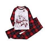 ROYIYI Weihnachten Familie Schlafanzug Weihnachten Print Pyjamas Outfit Mutter Vater Kind Weihnachten Pyjama Set Langarm Tops Lange Hosen Sets Nachtwäsche Pyjamas Sets