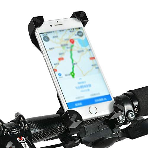 ROCKBROS Support Téléphone Vélo Moto de Guidon Universel Rotatif à 360 Degrés Anti-Vibrations en Silicone Réglable