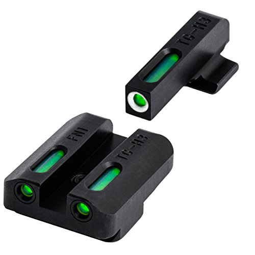 TRUGLO TFX Tritium and Fiber-Optic Xtreme Handgun Sights for FN Pistols, FNH FNP-40, FNX-40 and FNS-40, Black, One Size (TG13FN2A)