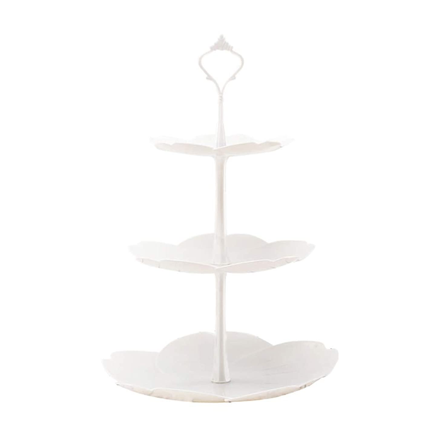 lightclub Fruit Cake Plate Holder 3-Layer Cake Stand Home Festival Party Dessert Storage Rack White 3