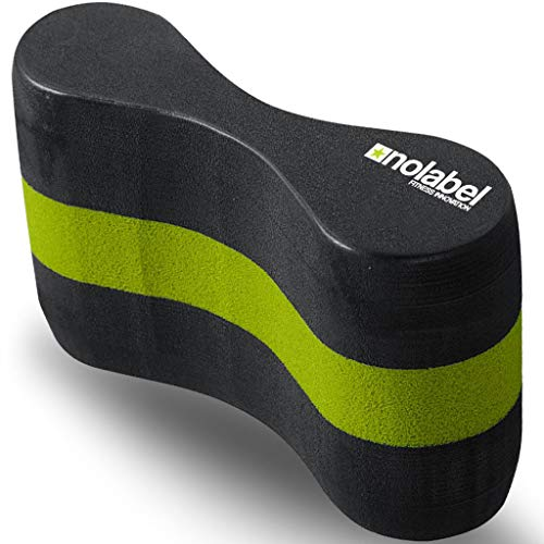 No Label Pull Buoy Swimming Training Aid - Pullbuoy Swim Float Offers 17 Newtons of Floatation Improve Your Swim Technique Today (Schwarz/Grün)