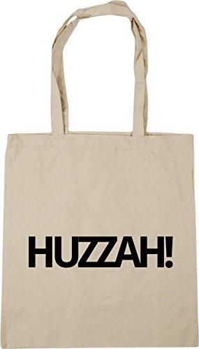 HippoWarehouse Huzzah! Tote Shopping Gym Beach Bag 42cm x38cm, 10 litres