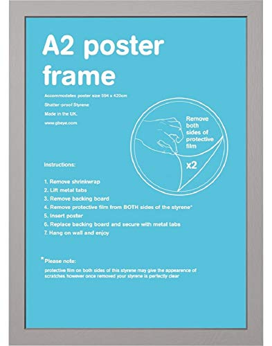 GB Eye LTD, Argent - A2, 42 x 59.4cm - Eton, Cadre
